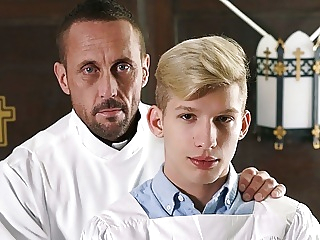 Blonde Twink Altar Boy Fucked By Muscle Hunk Priest Daddy 8:00 2020-06-08