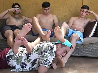 3 Sexy Latino Feet fetish foot fetish gay