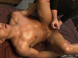 handsome asian boy got prostate massage massage cumshot big cock