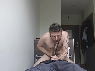 boy plays with a black sex doll 5:37 2019-05-29