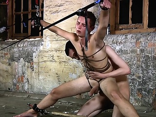 Slave Boy Tied Up gay big cock hd
