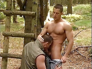 Breathless big cock blowjob hunk