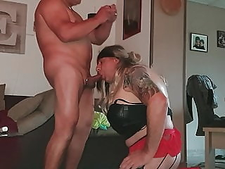 German Sissy blow a cuck amateur (gay) bareback (gay) big cock (gay)