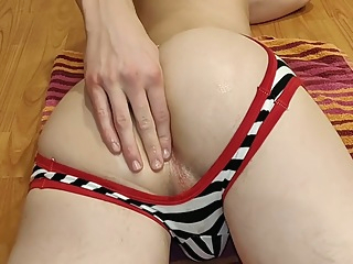 Homemade young twink boy taking huge dildo up his shaved butt in jockstrap 5:54 2019-04-19