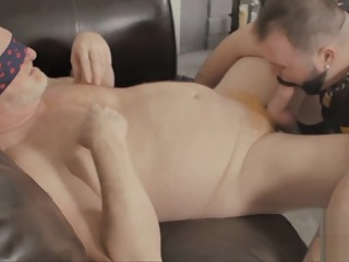 Fat cub wants the real deal instead of wanking to porn bareback bear big cock