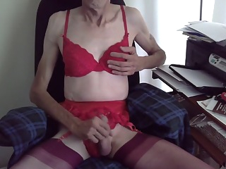 Wanking in Red masturbation blowjob gay