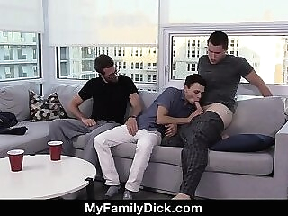 Getting His Mouth And Cock On His Little Brother's Hole Again with Daddy - Fathers Day Speci gay hd
