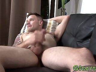 Military guy solo strokes his dick gay hd