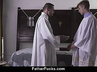 Nasty Priest Pushes Boy Against His Desk And Drills His Tight Rim 6:59 2020-06-24