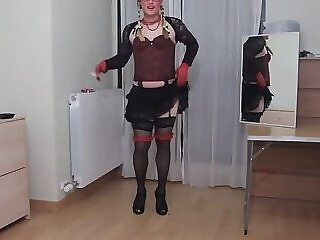 smoking for you on my slutty clothes sex toy crossdresser striptease