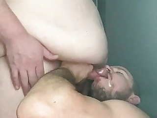 Superchub blowjob bear big cock blowjob