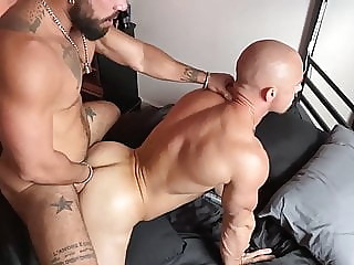 Travis Dyson And Marlon Cano bareback big cock daddy