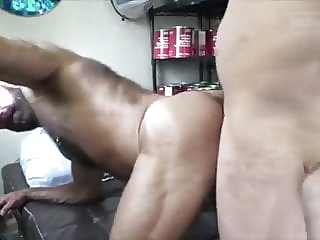 2 CUMLOADS: Bearded Bald Hirsute Muscledad Bred By Big Dick amateur bareback big cock