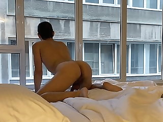 ass to mouth fuck near a public window amateur bareback blowjob